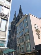 Cologne Cathedral behind the building