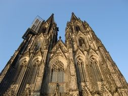 Cologne Cathedral with sharp spiers on the roof