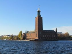 view of city hall in Stockholm