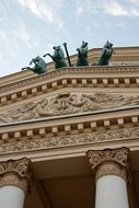 Bolshoi theater horses in Moscow