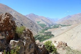 Chile-Valley in Elqui-Town