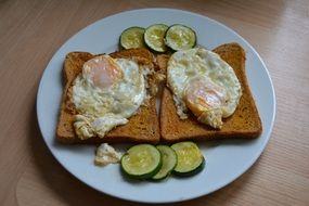 Eggs On Toast For Breakfast