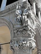 sculptures at the Doge\'s Palace, Venice