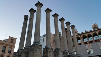 Roman temple of Cordoba with columns
