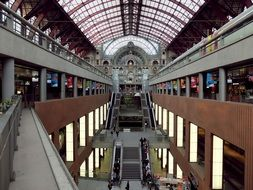 interior of the central station in Antwerp