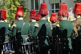 soldiers for a theatrical performance in bavaria