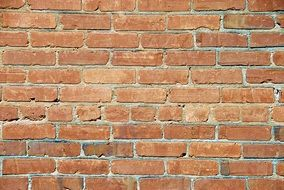 red brick wall close up