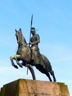 equestrian statue of a knight