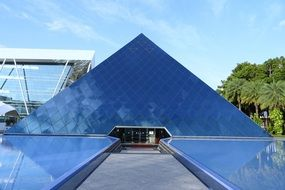 pyramid with a mirror facade