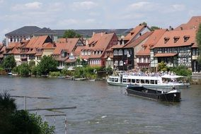 ships on the river in germany