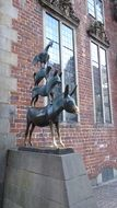 statue of town musicians in Bremen