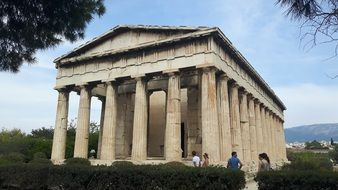 temple complex with columns in Athens