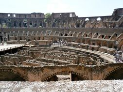 historical colosseum in rome