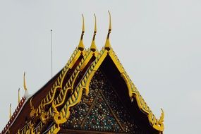 Temple Roof yellow golden details