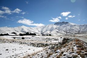 mountains in the snow on the eastern cape