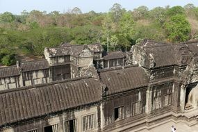Angkor Wat in the jungle of Cambodia