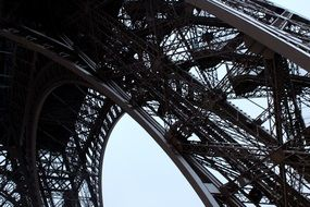 eiffel tower in detail close-up