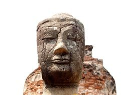 sculpture of deity head in thailand