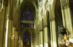 Cathedral of Our Lady, interior, france, Reims