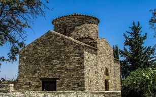 stone medieval orthodox church in cyprus