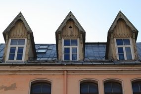 Latvia Riga old town roofs