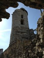 collapsed castle tower