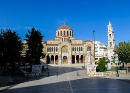 St. Nicholas Metropolitan Cathedral on square, Greece, Volos