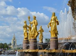 peoples' friendship fountain Moscow