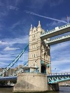 part of tower bridge in london