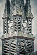 church steeple with clock