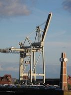 crane in the port city in hamburg