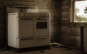 Old kitchen in abandoned house
