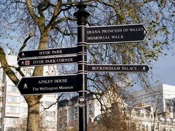 street signs in London