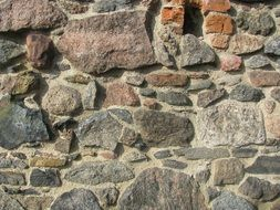 masonry on the wall of an old building