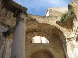 ruins of a church in sicily in southern europe