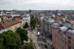 panorama of Vienna downtown