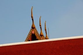 Thailand temple roof structure