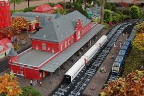 lego train station in Denmark theme park