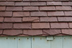 red tile roof close-up
