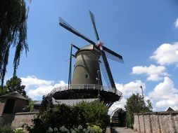 windmill as a historic building in the netherlands