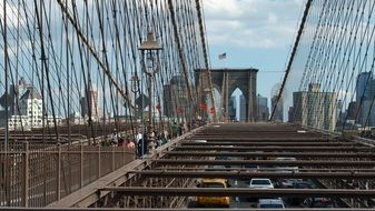 metal rods on the brooklyn bridge