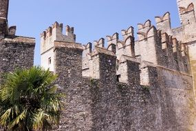 fortress of Middle Ages in sirmione