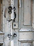 old door with fittings