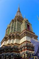 Thailand wat temple roof