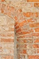 brick wall as a facade of an old building