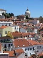 Old Town Roofs, portugal, Lisbon