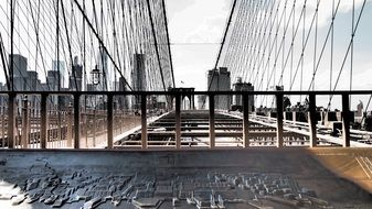 fencing on brooklyn bridge