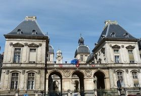 historic town hall building in france