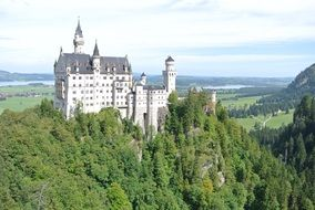 castle in the woods in bavaria