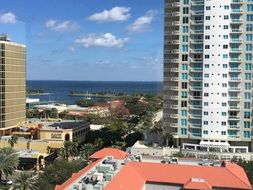 ocean view and tall building